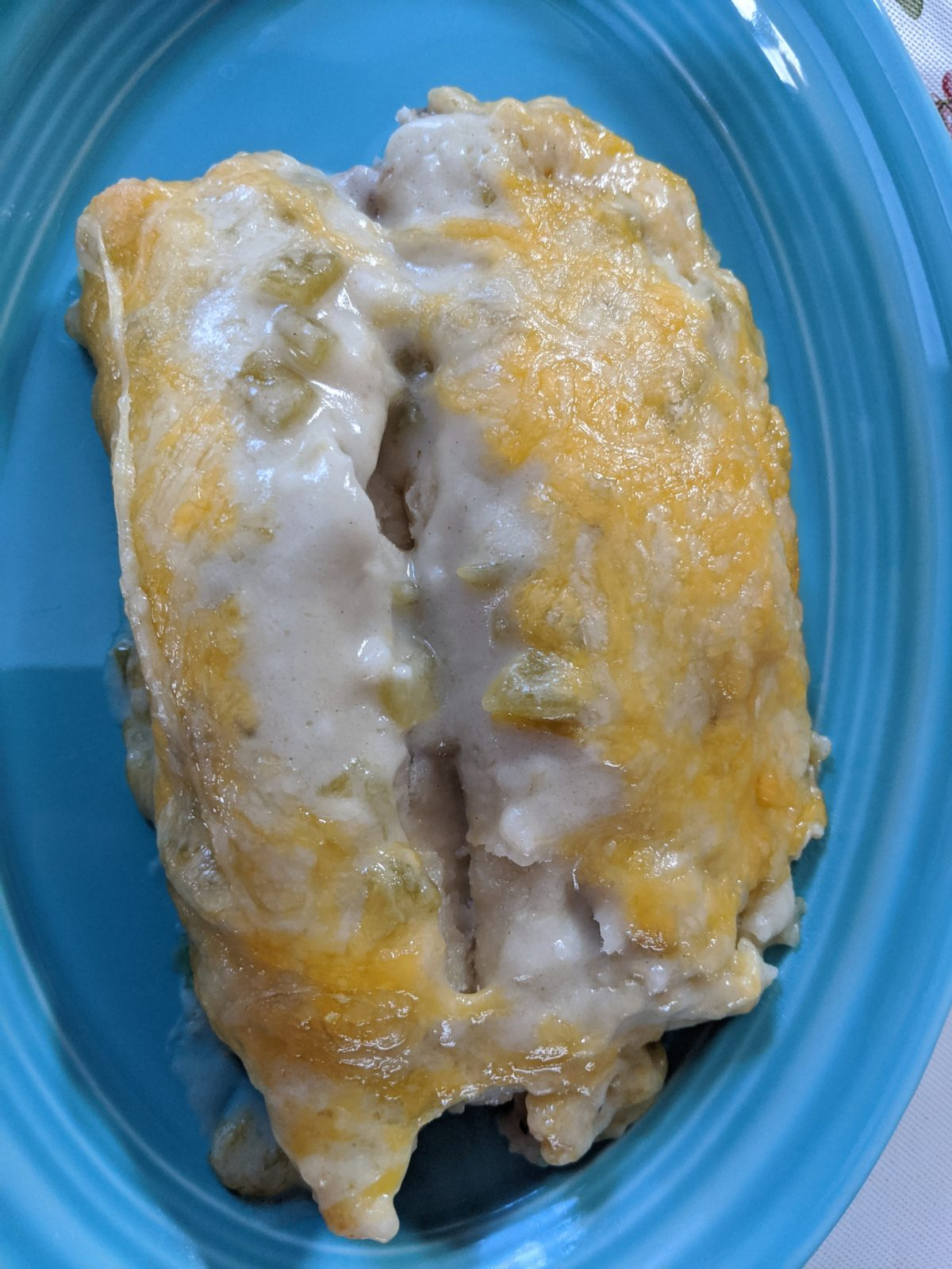 Creamy Chicken or Pork Enchiladas